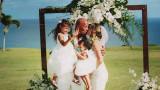 Дуейн Джонсън, Лорън Хашиян и още снимки от тайната им сватба