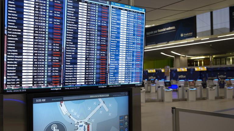 Лошото време отмени или отложи повече от 4000 полетав САЩ,