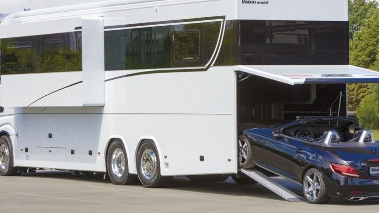 Луксозна каравана, която струва £1 милион, глези богаташи. Немската компания