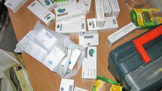 500 таблетки наркотично вещество заловиха на Лесово