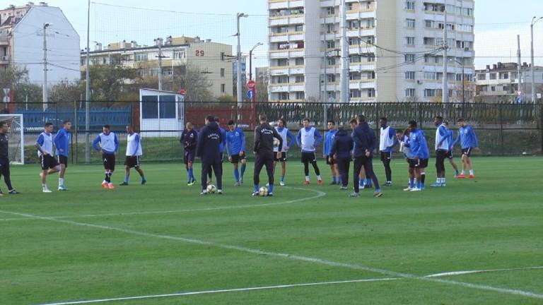 Левски продължава с подготовката си за мача с Царско село.