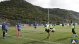 Футболистите на Левски отново тренираха двуразово