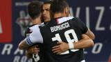 Роналдо донесе точката на Юве в дербито с Рома
