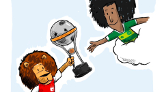 Миналогодишният носител на Копа Судамерикана изпрати трофея си на Шапе
