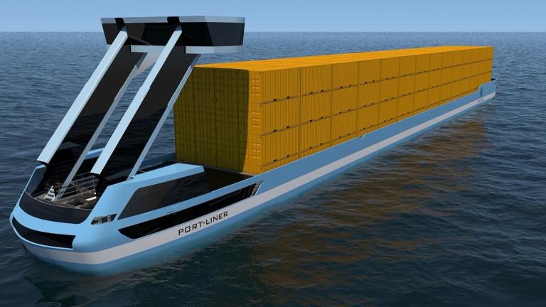 Първите изцяло електрически, напълно екологични и вероятно без екипаж контейнерни