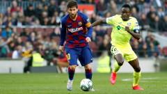 Слабо второ полувреме без малко не провали Барселона срещу Хетафе