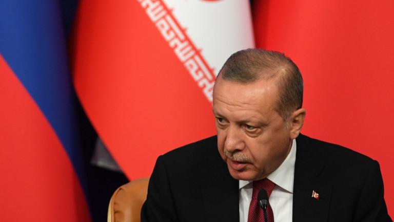 Ердоган подкрепя унищожаването на тероризма в Сирия