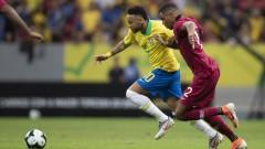 Неймар се контузи тежко, Бразилия надви Катар в контрола