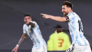 Аржентина с класика срещу Уругвай, Меси записа юбилеен гол