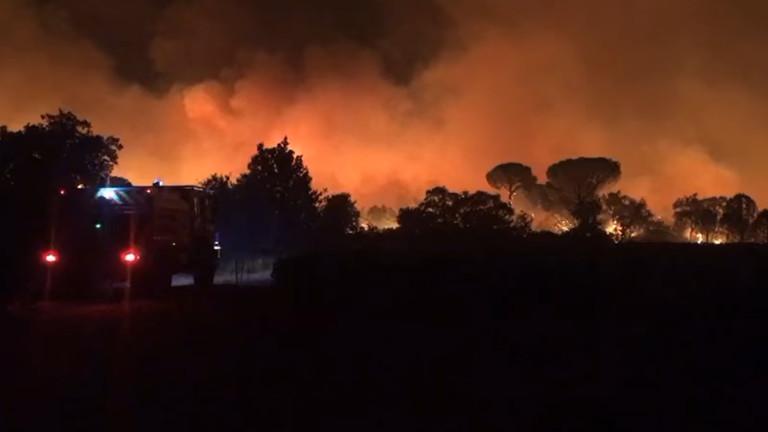 Хиляди евакуирани заради пожар до Сен Тропе