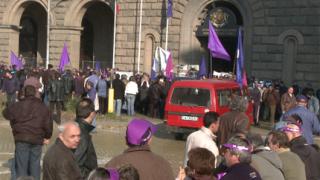 """Металурзи от """"Кремиковци"""" протестират и днес"""