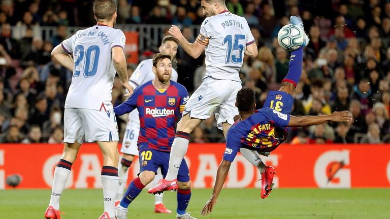 Барселона победи у дома Леванте с 2:1, като двата гола