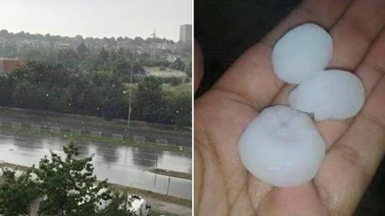 Дъжд и градушка в Шумен
