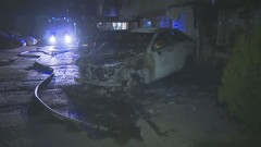 "Пожар в ""Младост"" – изгоряха коли, засегнат е и апартамент"