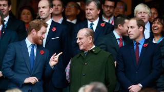 Как Уилям и Хари почетоха принц Филип
