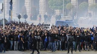 Ултрасите на Левски изплашиха цяла Италия
