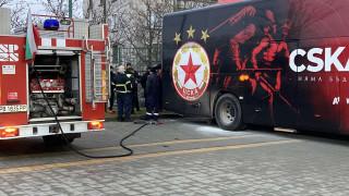 ЦСКА се прибра в София с друг автобус, теглят новия на буксир
