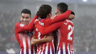 Атлетико забрави провала за Купата и си тръгна с класически успех от Арагон