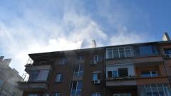 Пожар горя в жилищен блок в Русе