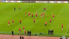 Без контузени след официалната тренировка на ЦСКА в Рим