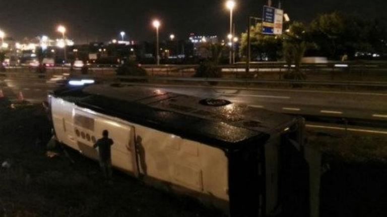 Автобус с туристи се преобърна в Барселона, десетки ранени, трима - в тежко състояние