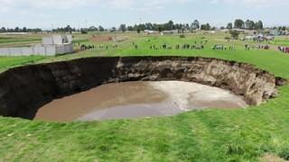 Огромна мистериозна дупка в Мексико нараства