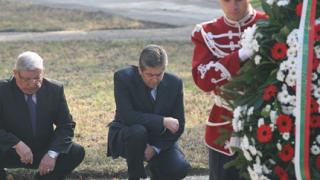 Мълчаливи, Първанов и Ангелов почетоха паметта на загиналите воини