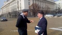 Полфрийман разговаря с Данаил Кирилов