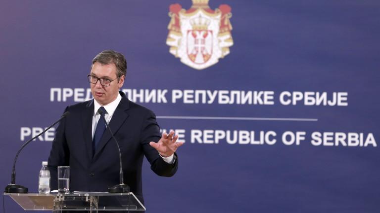 Президентът на Сърбия Александър Вучич обяви, че решението на премиера
