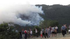 Над 400 души гасят пожара в Белица