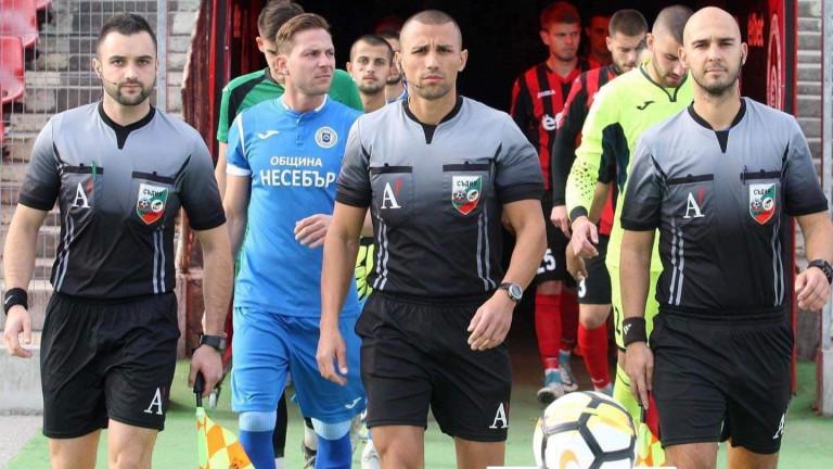 Перспективният съдия Димитър Димитров ще ръководи възлов двубой от Втора лига