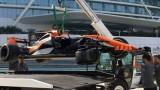 Фернандо Алонсо катастрофира в Абу Даби