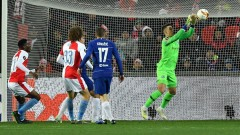 Челси с успех в мразовита Прага, край на победната серия за Славия
