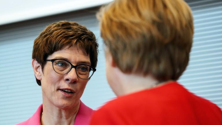 Лидерът на Християндемократическия съюз (ХДС) Анегрет Крамп-Каренбауер отхвърли призива на