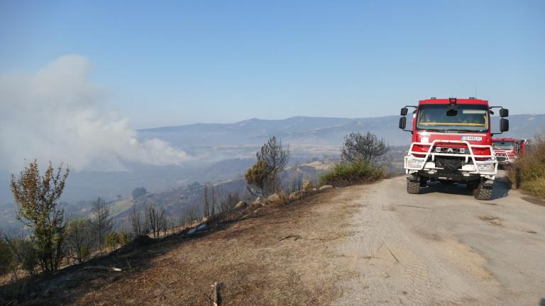 Пожарът в Хисаря изпепели 7 къщи, има евакуирани