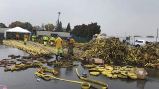 След пожарите, риск от наводнения в Калифорния
