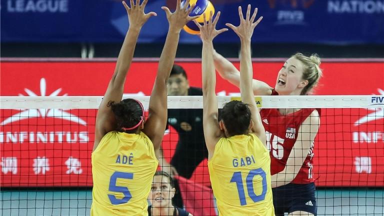 """Волейболистките на САЩ и Бразилия се класираха за финалната шестица на """"Лигата на нациите"""""""