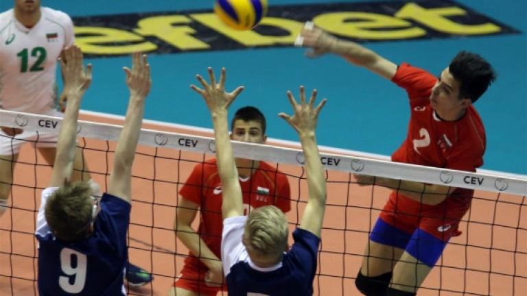 Юношите на България разгромиха Сърбия на европейското първенство по волейбол
