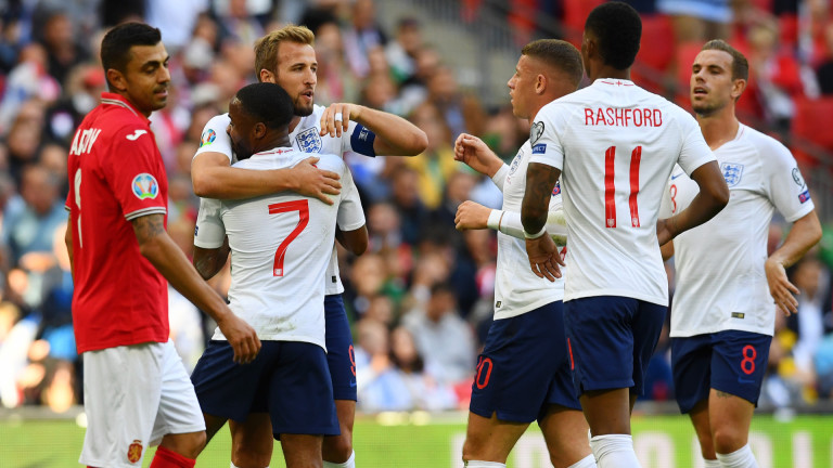 Англия - България 4:0 (Развой на срещат по минути)