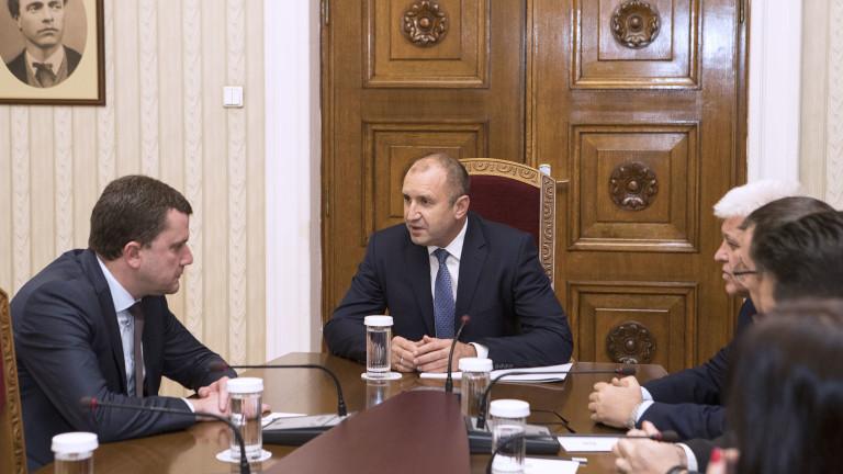 Президентът Румен Радев призова за ефективни действия на отговорните институции