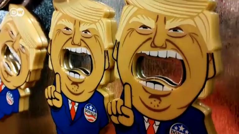 Сувенири с лика на Тръмп - хит във Вашингтон (ВИДЕО)