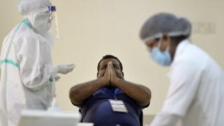 Индия счупи световния рекорд по ръст на заразените за денонощие
