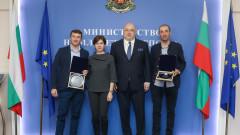 Министър Кралев награди биатлонистите Красимир Анев и Владимир Илиев