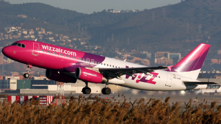 Wizz Air отбеляза 33% ръст на трафика в България през 2015 г.