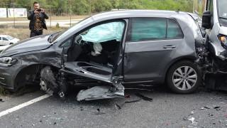 Верижна катастрофа на централно кръстовище във Варна