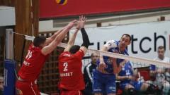 Волейболният ЦСКА отрази два мачбола и обърна Дунав с 3-2 гейма