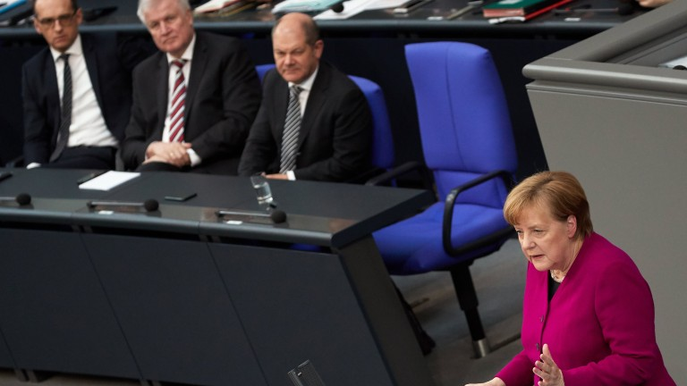Канцлерът на Германия Ангела Меркел остро разкритикува военната офанзива на