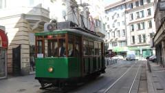 Ретро трамвай се движи из София за Европейски дни на наследството