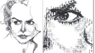 """Картини, """"натракани"""" на пишеща машина (галерия)"""