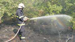 Пожар пламна и в село Анево